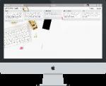 desktop mockup with trello board on screen